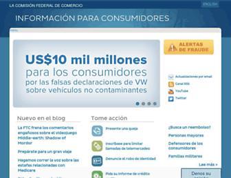 consumidor.ftc.gov screenshot