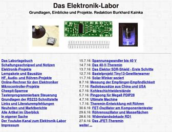 elektronik-labor.de screenshot