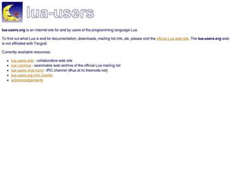 Main page screenshot of lua-users.org