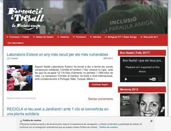 Main page screenshot of formacioitreball.org