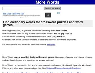 morewords.com screenshot