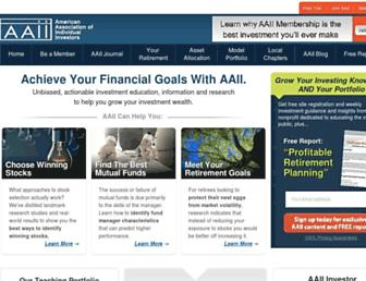 aaii.com screenshot