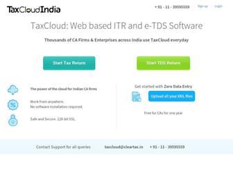 taxcloudindia.com screenshot