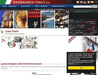 Main page screenshot of geosearch.it