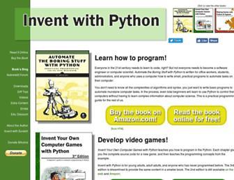 inventwithpython.com screenshot