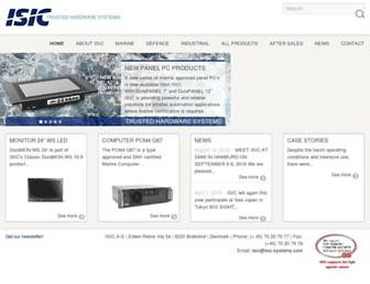 isic-systems.com screenshot