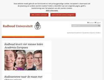 Main page screenshot of ru.nl