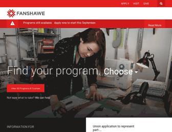 Main page screenshot of fanshawec.ca