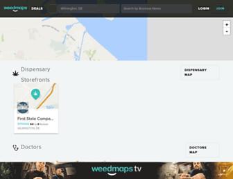 weedmaps.com screenshot