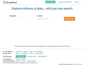 Thumbshot of Simplyhired.com