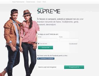 fashionsupreme.ro screenshot