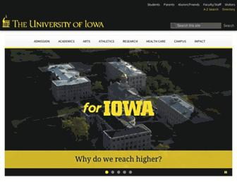 Main page screenshot of uiowa.edu