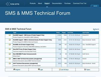 support.nowsms.com screenshot