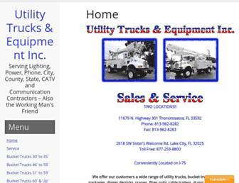 utilitytrks.com screenshot