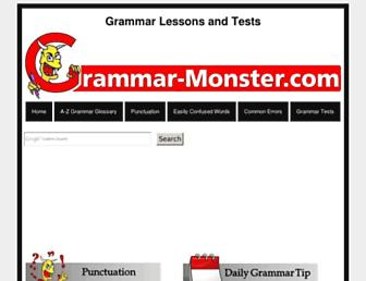 grammar-monster.com screenshot