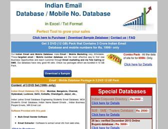 Thumbshot of Indianemaildatabase.in