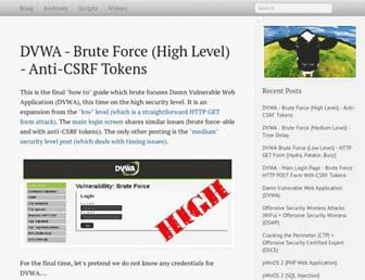 blog.g0tmi1k.com screenshot