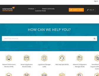 support.solarwinds.com screenshot