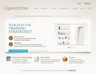 quantpedia.com screenshot