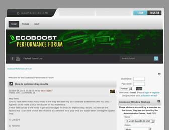 ecoboostperformanceforum.com screenshot