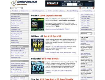 Main page screenshot of freebets.football-data.co.uk