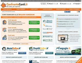 Main page screenshot of confrontaconti.it
