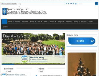 Main page screenshot of nvcss.org