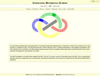 Main page screenshot of imo-official.org