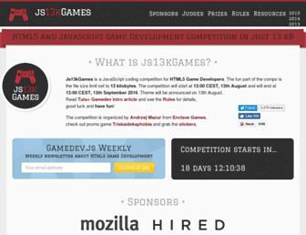 js13kgames.com screenshot
