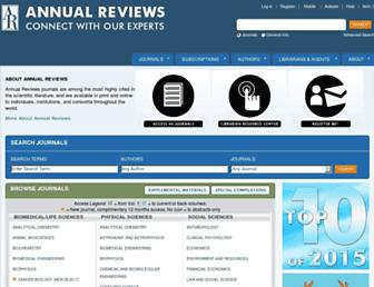 Thumbshot of Annualreviews.org