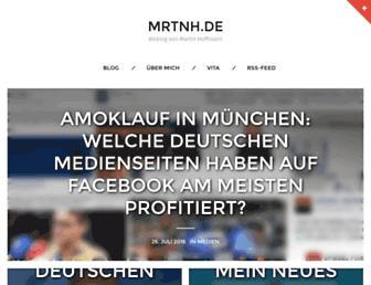 Main page screenshot of mrtnh.de