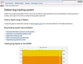bugs.debian.org screenshot