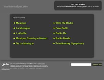 abeillemusique.com screenshot