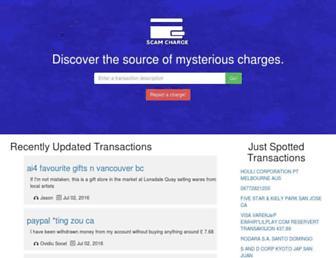 scamcharge.com screenshot