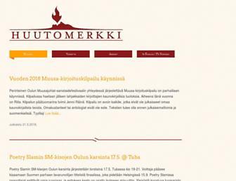 Main page screenshot of huutomerkki.fi