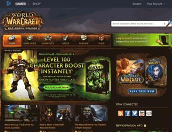 worldofwarcraft.com screenshot