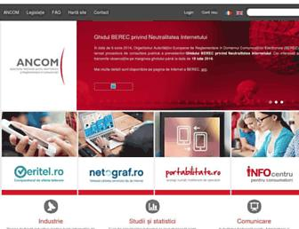 ancom.org.ro screenshot