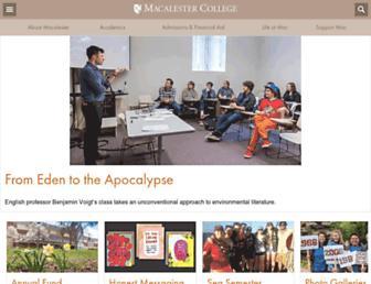 macalester.edu screenshot