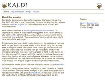 kaldi-asr.org screenshot