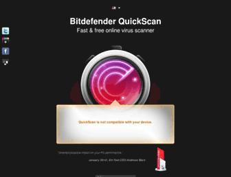 quickscan.bitdefender.com screenshot