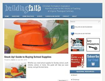 Main page screenshot of buildfaith.org