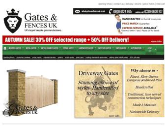 gatesandfencesuk.co.uk screenshot