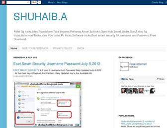 shuhaibofficial.blogspot.com screenshot