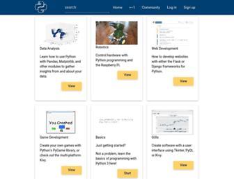 pythonprogramming.net screenshot