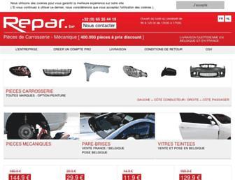 Main page screenshot of repar.be