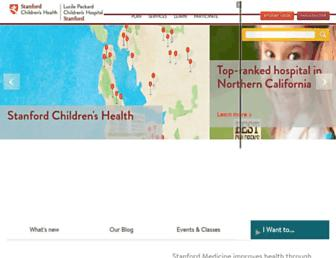 Thumbshot of Stanfordchildrens.org