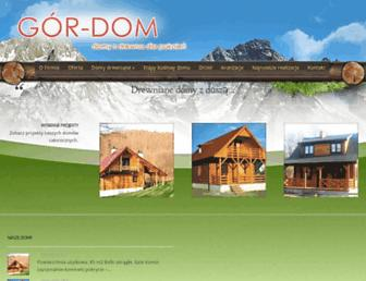 Main page screenshot of gor-dom.pl