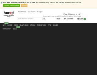 horze.co.uk screenshot