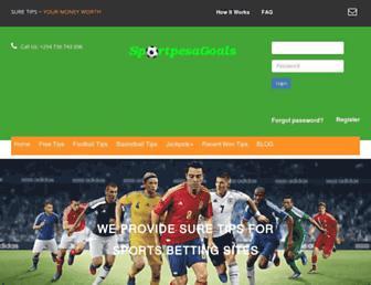 sportpesagoals.com screenshot