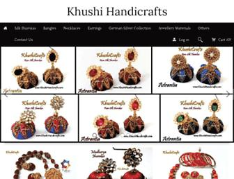 khushihandicrafts.com screenshot